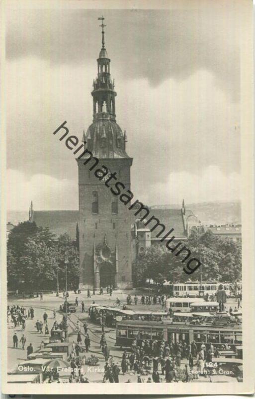 Oslo - Var Frelsers Kirke - Foto-AK 40er Jahre - Enerett S Gran.