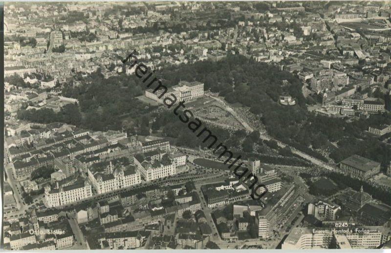 Oslo - Foto-AK Fliegeraufnahme 40er Jahre - Enerett Harstad's Forlag (G12592y)*