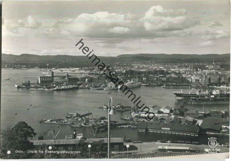 Oslo - Utsikt fra Ekebergrestauranten - Foto-AK Grossformat 40er Jahre - Enerett Eberh. B. Oppi