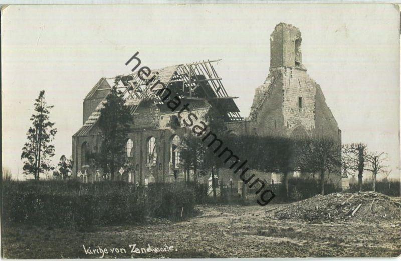 Kirche von Zandvoorde - Foto-Ansichtskarte