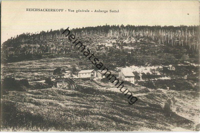 Reichsackerkopf - Vue generale - Auberge Sattel - Verlag Fr. Isenarm Munster