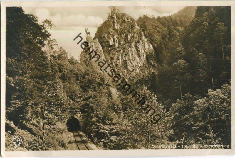 Höllental - Hirschsprung - Foto-AK - Verlag Chr. Franz Titisee