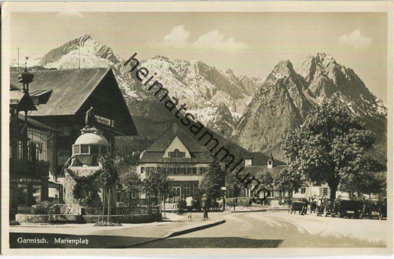 Garmisch - Marienplatz - Foto-Ansichtskarte - Verlag Rudolf Rudolphi Garmisch-Partenkirchen