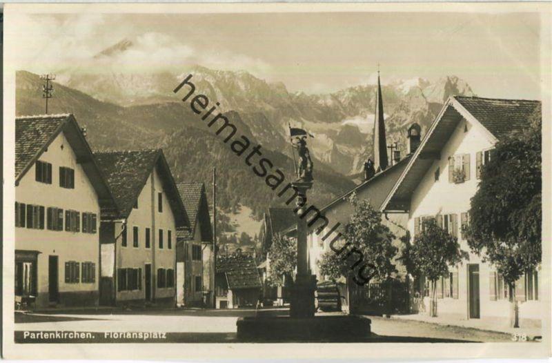 Partenkirchen - Floriansplatz - Verlag Rudolf Rudolphi Garmisch-Partenkirchen