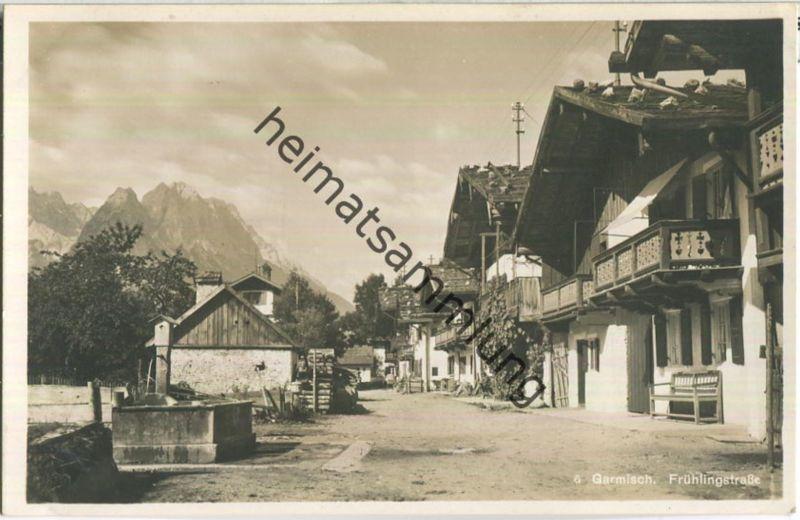 Garmisch - Frühlingsstrasse - Verlag Rudolf Rudolphi Garmisch-Partenkirchen
