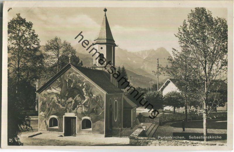 Partenkirchen - Sebastianskirche - Verlag Rudolf Rudolphi Garmisch-Partenkirchen