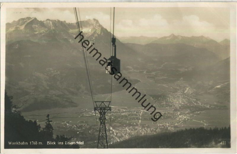 Wankbahn - Blick ins Loisachtal - Verlag Rudolf Rudolphi Garmisch-Partenkirchen
