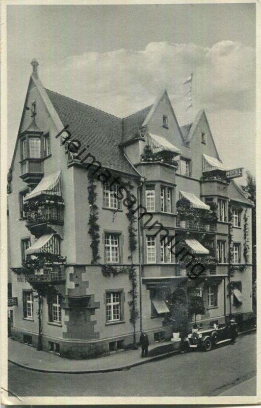 Freiburg - Poststrasse 8 - Hotel Minerva Besitzer A. Schöpperle - Verlag Josef Schroedel