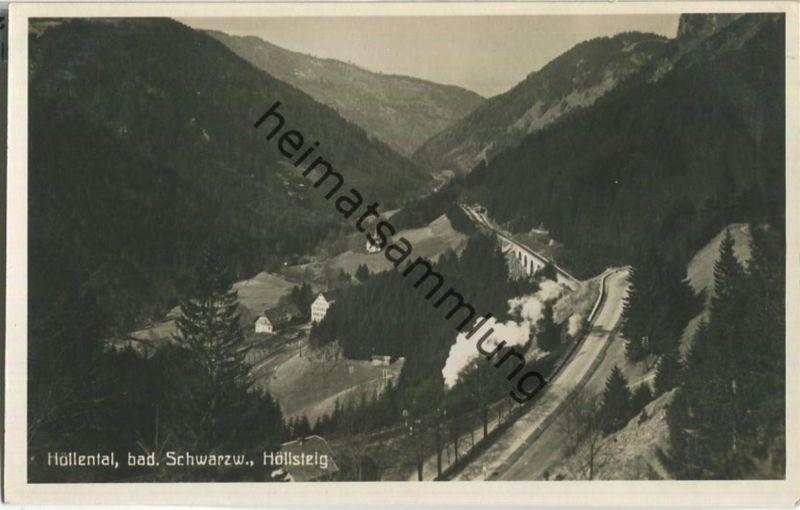 Höllental - Höllsteig - Foto-Ansichtskarte - Verlag Gebr. Metz Tübingen