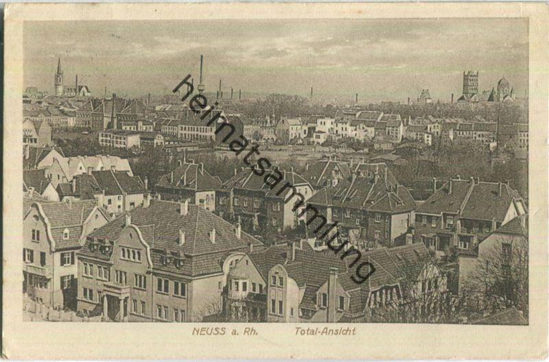 Neuss am Rhein - Total-Ansicht - Verlag Wwe C. Lucas Neuss - Feldpost