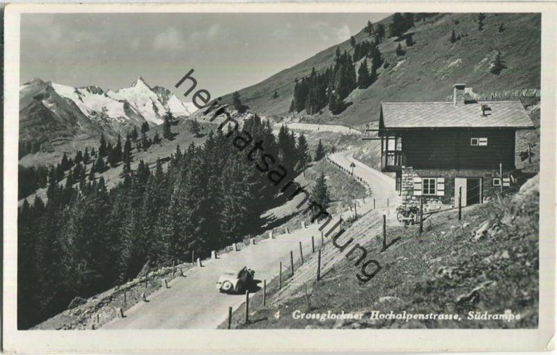 Grossglockner Hochalpenstrasse - Südrampe - Foto-AK - Verlag Glocknerwirt Heiligenblut