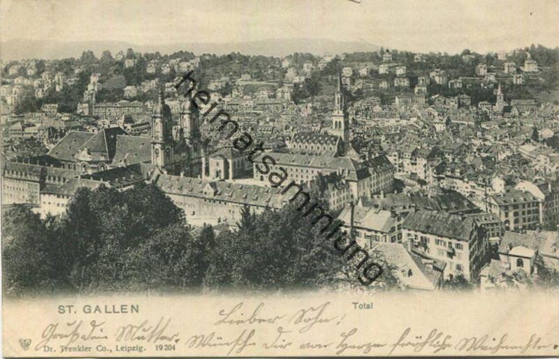 St. Gallen - Total - Verlag Dr. Trenkler Leipzig gel. 1902