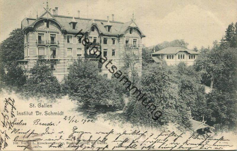 St. Gallen - Institut D. Schmidt - Verlag L. Kirschner-Engler St. Gallen gel. 1902