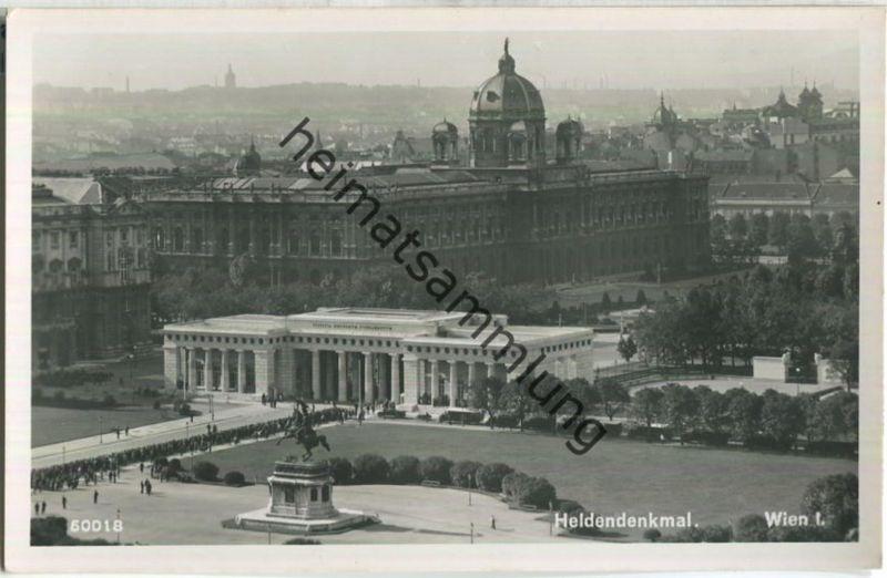 Wien - Heldendenkmal - Foto-Ansichtskarte - Verlag P. Ledermann Wien 1940