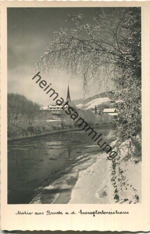 Motiv aus Bruck an der Grossglocknerstrasse - Foto-Ansichtskarte - Verlag Kaufhaus Peter Lederer Bruck 40er Jahre