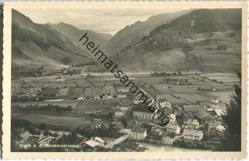 Bruck an der Glocknerstrasse - Foto-Ansichtskarte - Verlag C. Jurischek Salzburg 40er Jahre