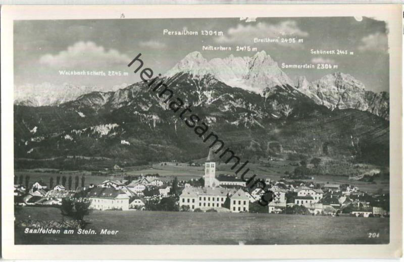 Saalfelden am Steinernen Meer -Foto-Ansichtskarte - Verlag Adolf Wirthmiller Saalfelden 40er Jahre