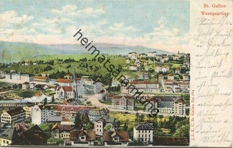 St. Gallen - Westquartier - gel. 1903