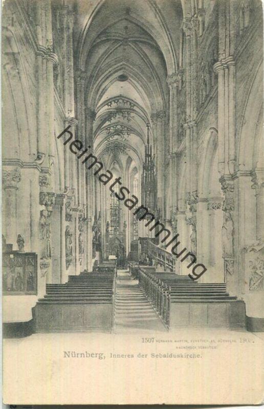 Nürnberg - Inneres der Sebalduskirche - Verlag Hermann Martin Nürnberg 1903