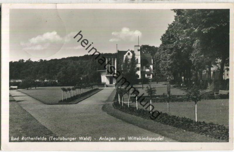 Bad Rothenfelde - Anlagen am Wittekindsprudel - Foto-Ansichtskarte - Verlag H. Stertmann Bad Rothenfelde