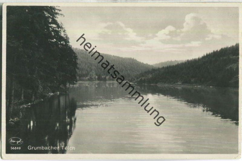 Grumbacher Teich - Foto-Ansichtskarte - Verlag Stengel & Co. Dresden