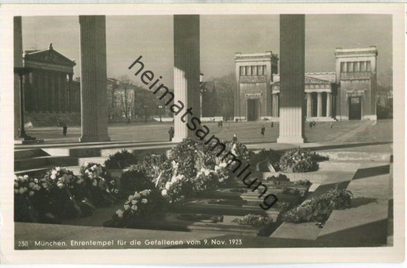 München - Ehrentempel für die Gefallenen vom 9. November 1923 - Foto-Ansichtskarte - Verlag M. Seidlein München