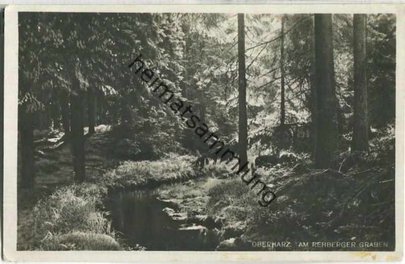 Am Rehberger Graben - Foto-Ansichtskarte - Verlag R. Lederbogen Halberstadt 30er Jahre