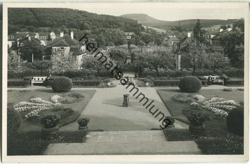 Bad Brückenau - Blick vom Fürstenhof zum Dreistelz - Foto-Ansichtskarte - Verlag Photo-Bott Bad Brückenau