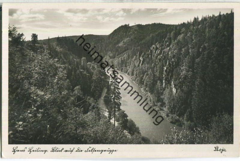 Hans-Heiling-Felsen an der Eger - Foto-Ansichtskarte - Stoja-Verlag Janke & Dr. Maiwald Nürnberg