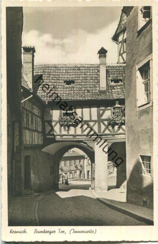 Kronach - Bamberger Tor - Innenseite - Foto-AK - Franckh-Verlag Stuttgart