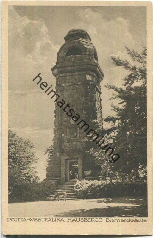 Porta Westfalica - Hausberge - Bismarcksäule - Verlag Hermann Lorch Dortmund