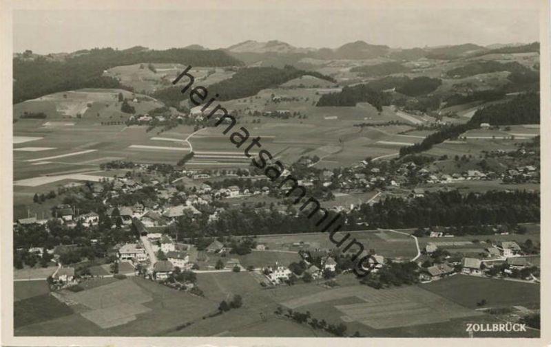 Zollbrück - Fliegeraufnahme - Foto-AK - Verlag Papeterie Dätwyler Zollbrück gel. 1943