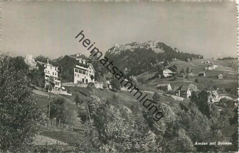 Amden mit Gulmen - Foto-AK - Verlag Globetrotter Luzern gel. 1943