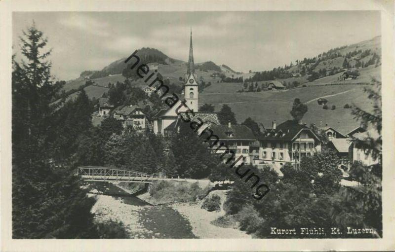 Flühli - Foto-AK - Verlag Brügger Meiringen gel. 1935