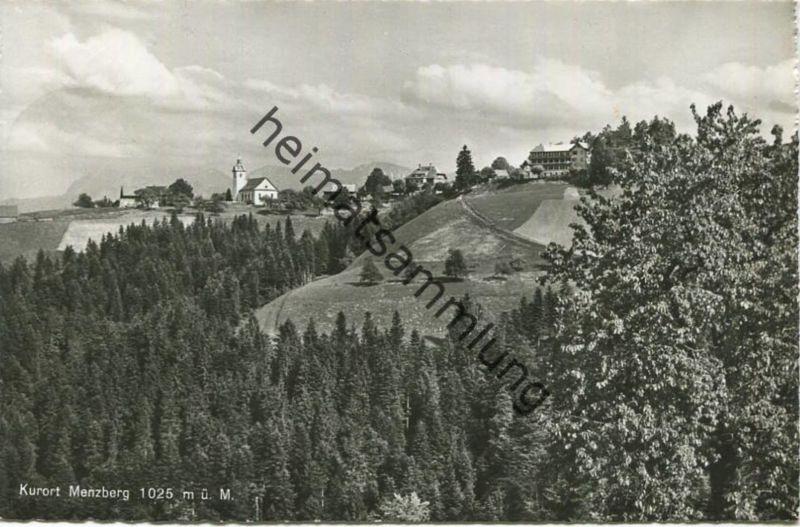 Menzberg - Foto-AK - Verlag Globetrotter Luzern gel. 1955