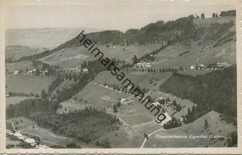 Eigenthal - Fliegeraufnahme - Foto-AK 40er Jahre - Luftbild Swissair - Verlag O. Wyrsch Bern