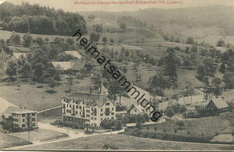 Richenthal - Kurhaus und Wasserheilanstalt - Verlag T. Bornstein & Cie. Basel