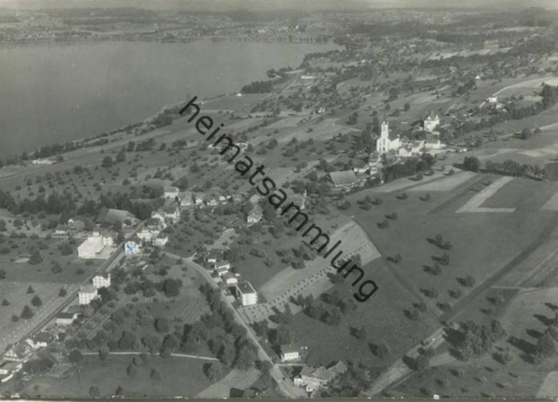 Nottwil - Luftaufnahme - Foto-AK Großformat - Verlag Döbeli Villnachern gel. 1961