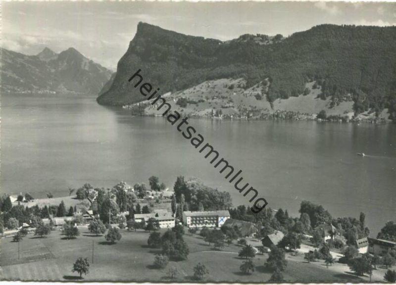 Kastanienbaum - Foto-AK Großformat - Flugaufnahme P. Zaugg Solothurn gel. 1969