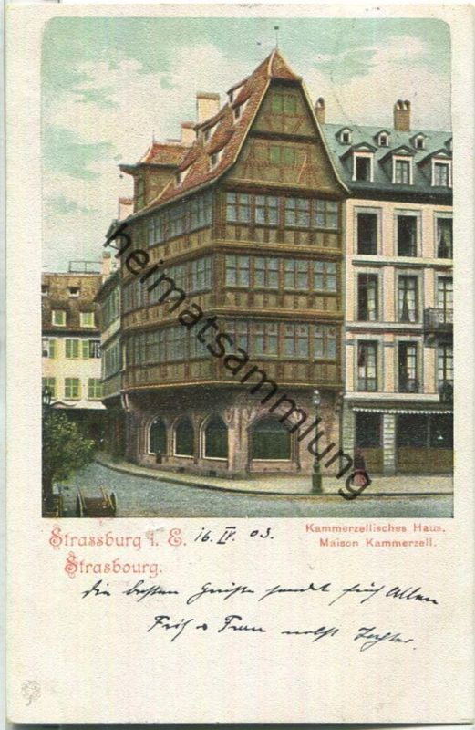 Strassburg - Kammerzellisches Haus