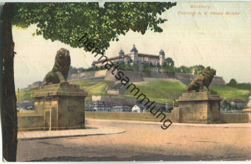 Würzburg - Festung mit der neuen Brücke
