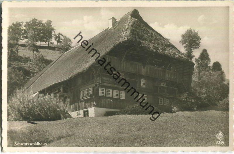 Schwarzwaldhaus - Verlag Karl Alber Freiburg - Foto-Ansichtskarte