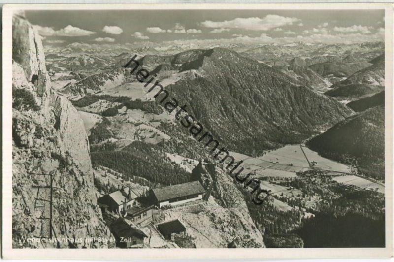 Wendelsteinhaus mit Bayrisch Zell - Foto-Ansichtskarte
