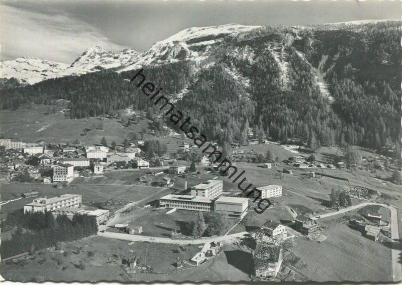 Leukerbad - Rheumaklinik - Luftaufnahme - Foto-AK Großformat - Verlag Bruno Grichting Leukerbad gel. 1961