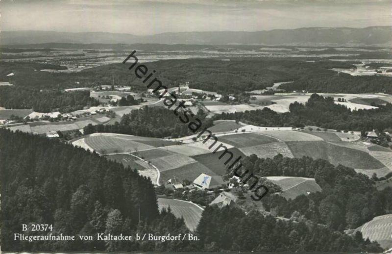 Kaltacker bei Burgdorf - Fliegeraufnahme - Foto-AK - Verlag A. Boss & Co. Schönbühl gel. 1957