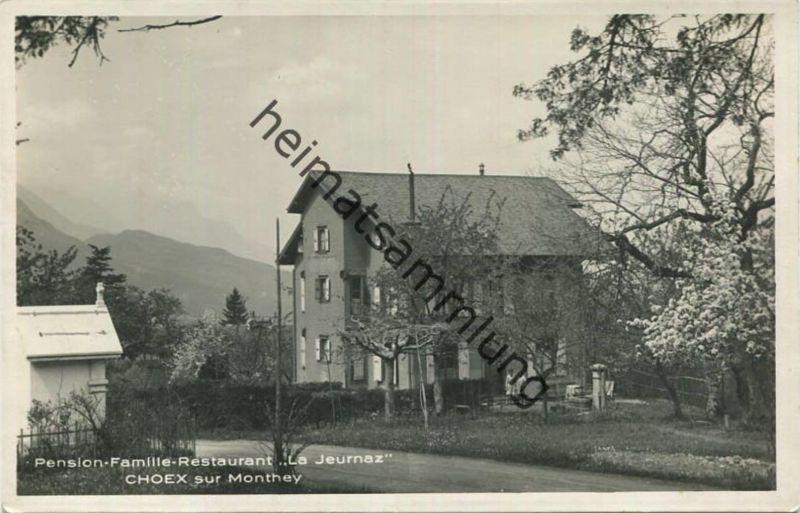 Choex sur Monthey - Pension Famille Restaurant La Jeurnaz - Foto-AK - Verlag R. E. Chapallaz fils Lausanne 1929