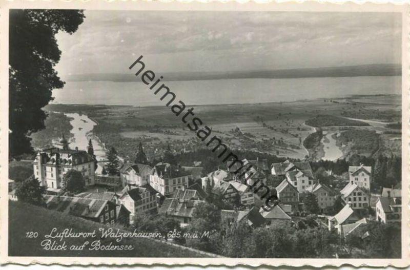 Walzenhausen - Blick auf den Bodensee - Foto-AK - Verlag A. Eggenberger Walzenhausen gel.