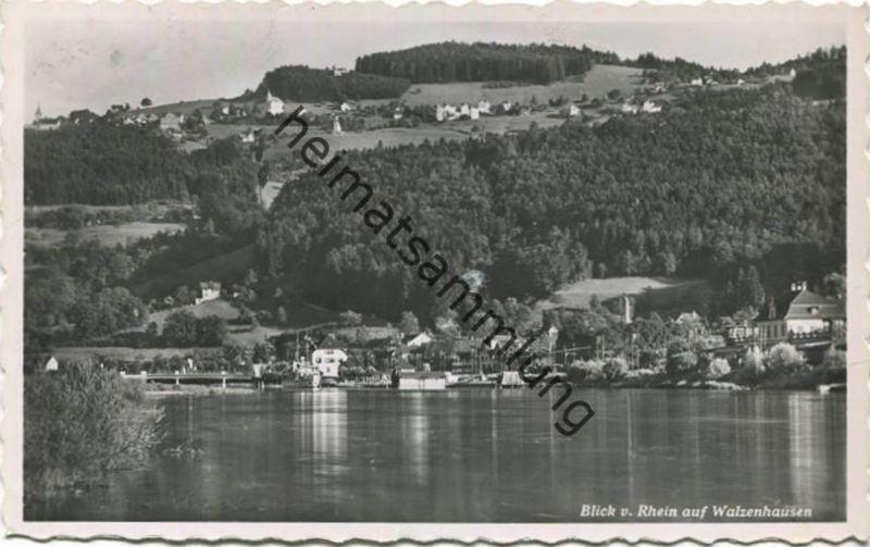 Blick vom Rhein auf Walzenhausen - Foto-AK - Verlag A. Eggenberger Walzenhausen gel. 1953