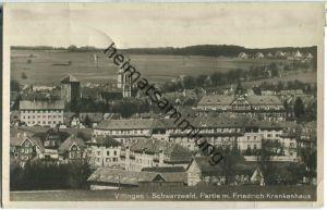 Villingen - Partie mit Friedrich-Krankenhaus - Foto-Ansichtskarte - Verlag Gebr. Metz Tübingen