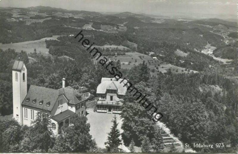 St. Iddaburg bei Gähwil - Flugaufnahme - Foto-AK - Verlag Hugo Kopp Zürich
